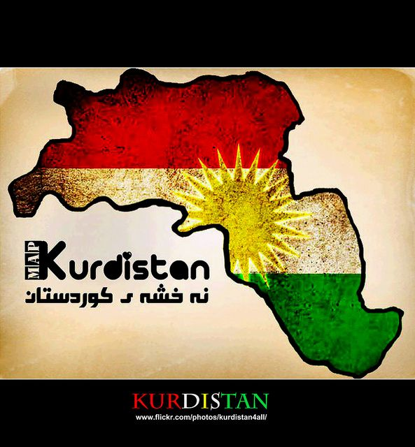 kurdistan map by Kurdistan