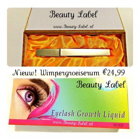 groei serum Beauty Label Staat  Nieuw  Groei Serum Beauty label Inhoud : 5ml Gebruik : De serum dient 1 keer per dag voor het slapen gaan aan te brengen. Na 20 tot 30 dagen zijn je wimpers zichtbaar een stuk langer en dikker. De serum is een soort kunstmest voor je wimpers.