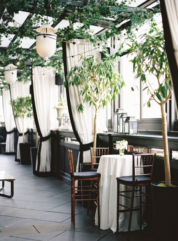 Gramercy Terrace at Gramercy Park Hotel in New York City: http://www.stylemepretty.com/2016/12/08/pantone-2017-color-of-the-year-greenery-wedding/ Photography: Kayla Barker - http://www.kaylabarker.com/