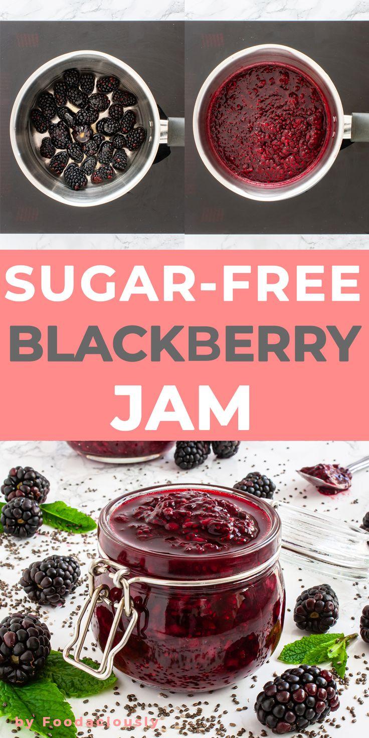 Sugar-Free Blackberry Jam with Chia Seeds