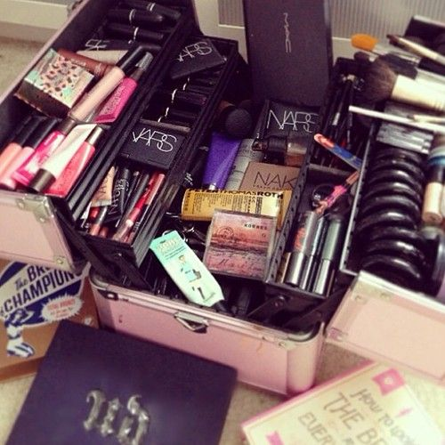 just finished completing my make up kit!