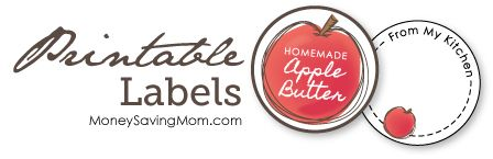 Homemade Apple Butter Labels @Ronita Anderson Lussier