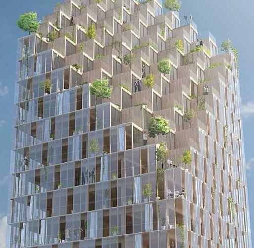 Le premier gratte-ciel en bois à Stockholm ? : http://www.efficycle.fr/premier-gratte-ciel-en-bois-stockholm/