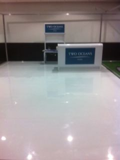 Two Oceans white ABS floor for Resource Design 21 Feb 2015