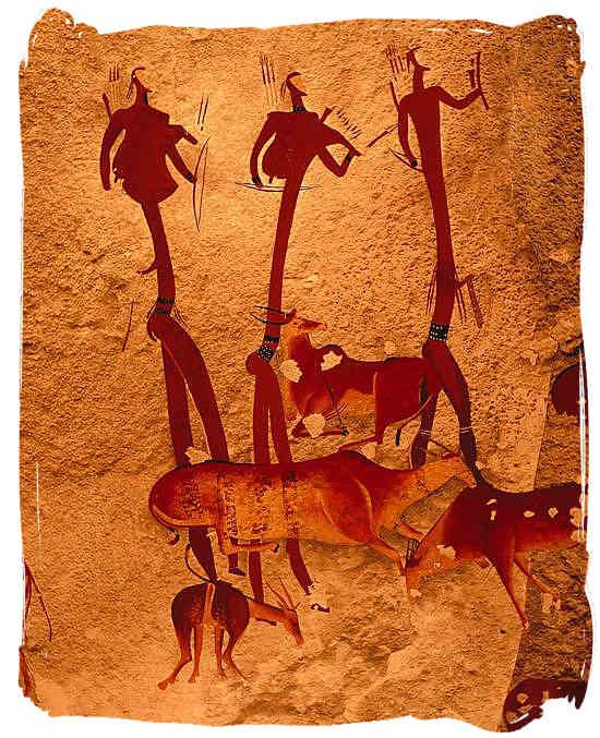 San People, rock wall painting....leaving tracks for us all
