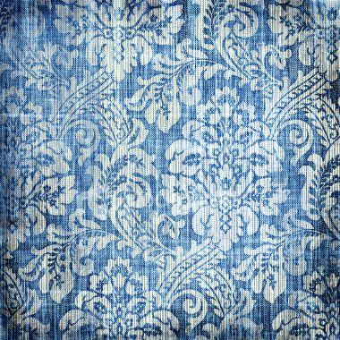 discharge print on plain weave indigo