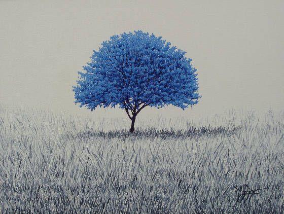 """'BLUE SPIRIT"""" 9"""" x 12"""", oil on canvas SOLD by: CRAIGHEAD GREEN GALLERY, 1011 Dragon Street, Dallas, TX 75207.  Ph: 214.855.0779  www.jaymaggio.com"""