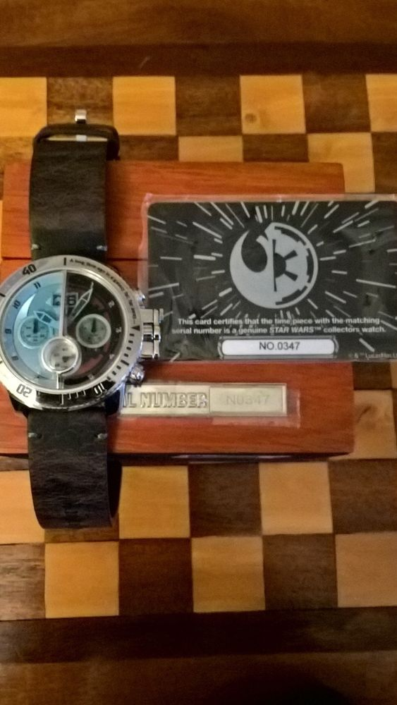 e16270553fc3 Star Wars limited edition light   dark side watch collectors item   StarWarsGifts  StarWars  Collectibles