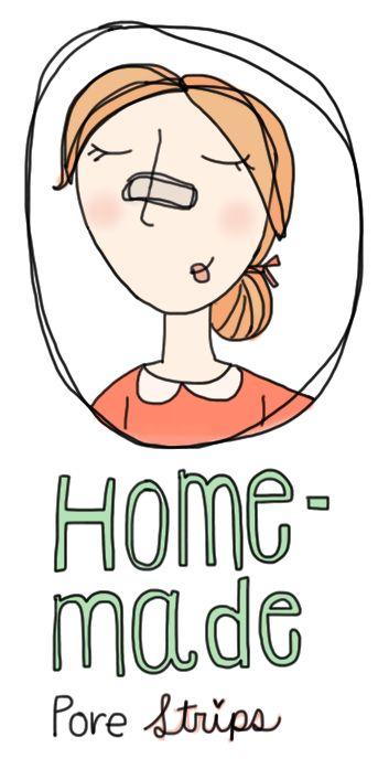 Home-made pore strips