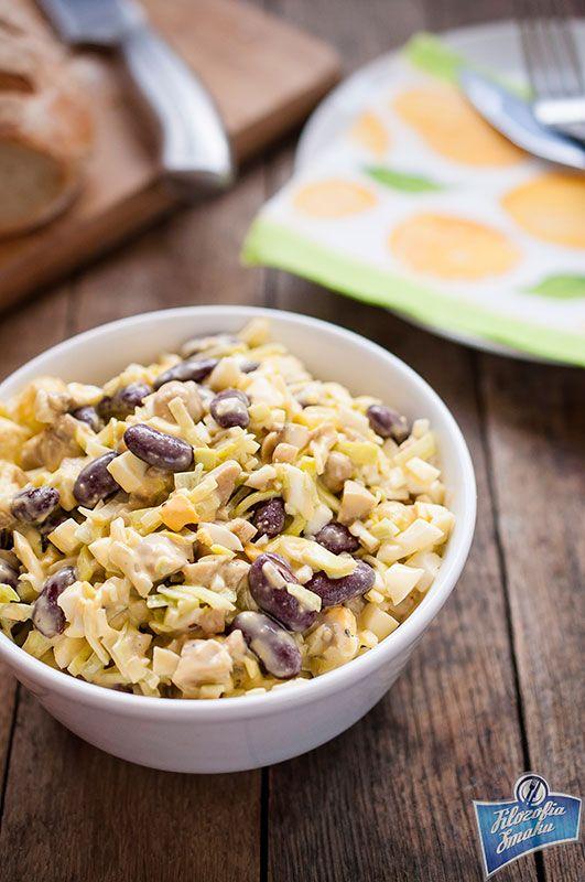 Sałatka z marynowanych pieczarek i pora/Marinated Mushroom and Leek Salad
