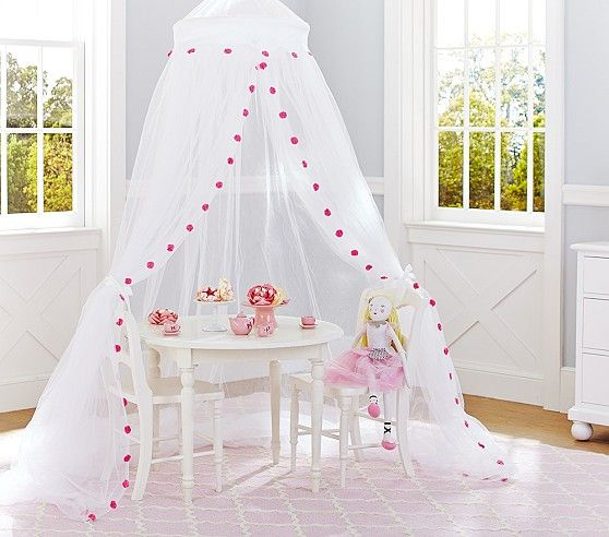Pink Pom Pom Canopy Pottery Barn Kids Tents Teepees