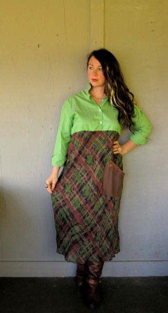 LargeXLarge Eco upcycled clothing Romantic by lillienoradrygoods, $67.50