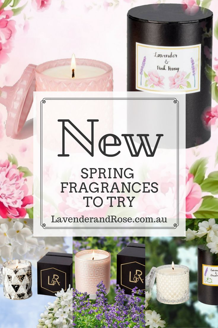 Must try Premium Floral Fragrances for Spring. Lavender & Pink Peony - Lavender & Gardeina - Lavender & Indigo - Lavender & White Lilac - Avaialble in stylish candle holder vessels or as a diffuser.  Bring the fragrances of spring indoors with LavenderandRose.com.au