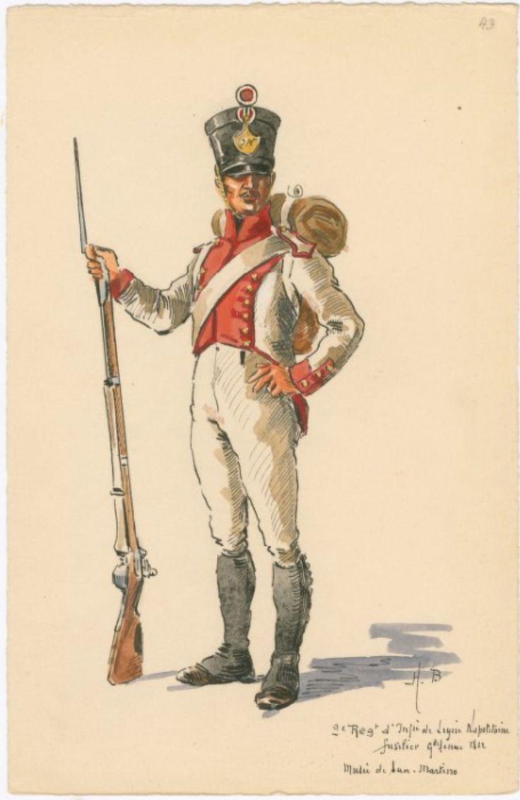 Fuciliere del 9 rgt. di fanteria della linea del regno di Napoli