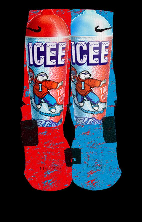 Icee Inspired by Prieto Custom Nike Elite Socks by LuxuryElites, $35.99