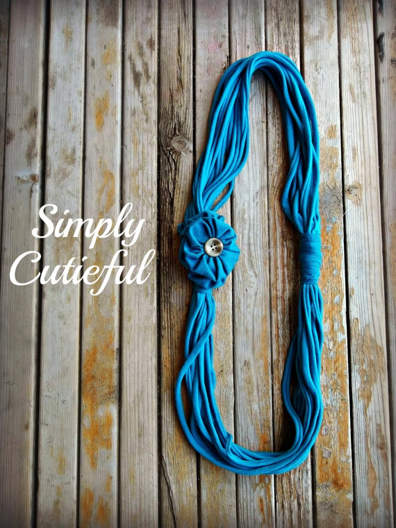 Upcycled Tshirt Scarf / Ready to Ship by simplycutieful on Etsy, $7.00