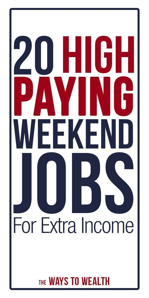 20 High Paying Part Time Weekend Jobs For Extra Income Weekend