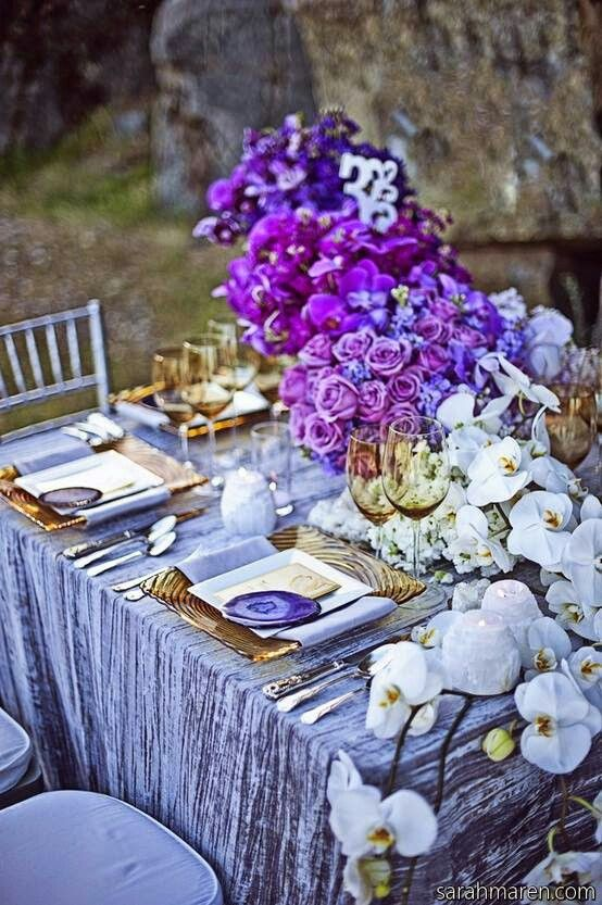 Purple flowers for a wedding decor.