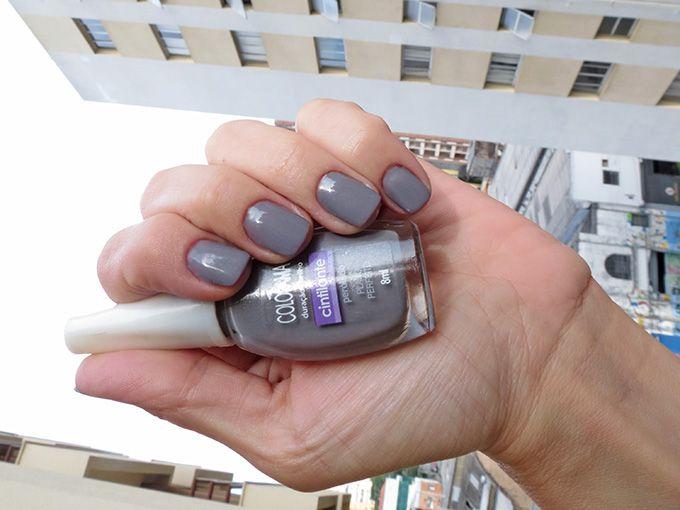 Esmalte cinza Plano Perfeito Colorama