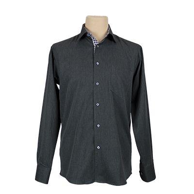Camicia uomo vestibilita' regolare - Grigio scuro - € 33,20. #hallofbrands #hob #camicia #shirt