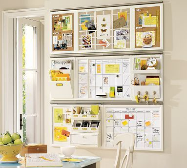 Organize craft supplies ideas: Organizations Ideas, Command Center, Kitchens Wall, Crafts Rooms, Wall Organizations, Offices Organizations, Pottery Barns, Home Offices, Organizations Boards