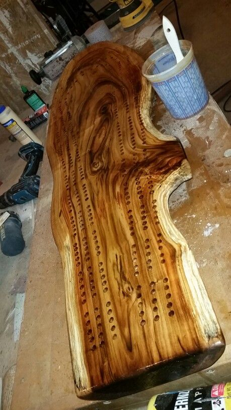 Slab cribbage board