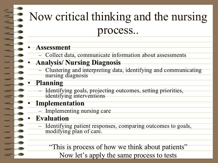 Evaluation of critical thinking in nursing