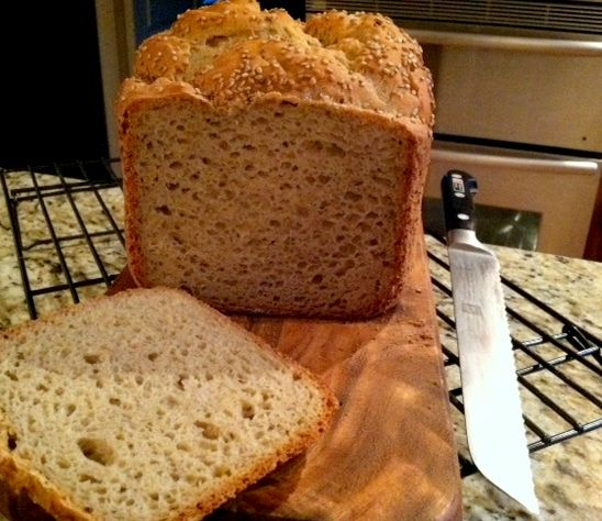 GF Beer Bread made in a bread machine