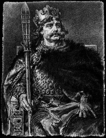 Bolesław I Chrobry, the first crowned King of Poland (1025).