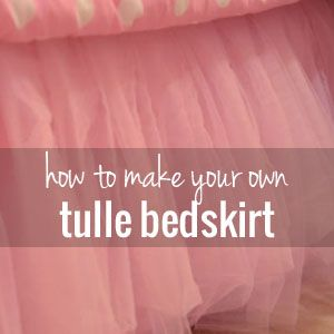 How to make a tulle bedskirt tutorial | This would be so cute on a little girls bed or on a baby girl crib treatment