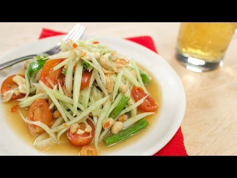 90 best hot thai kitchen u tube images on pinterest asian food green papaya salad recipe som tum hot thai kitchen forumfinder