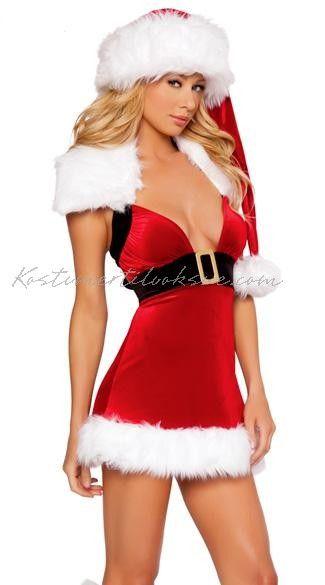 Rød Frække Nissepige Kostumer Jul Kostume