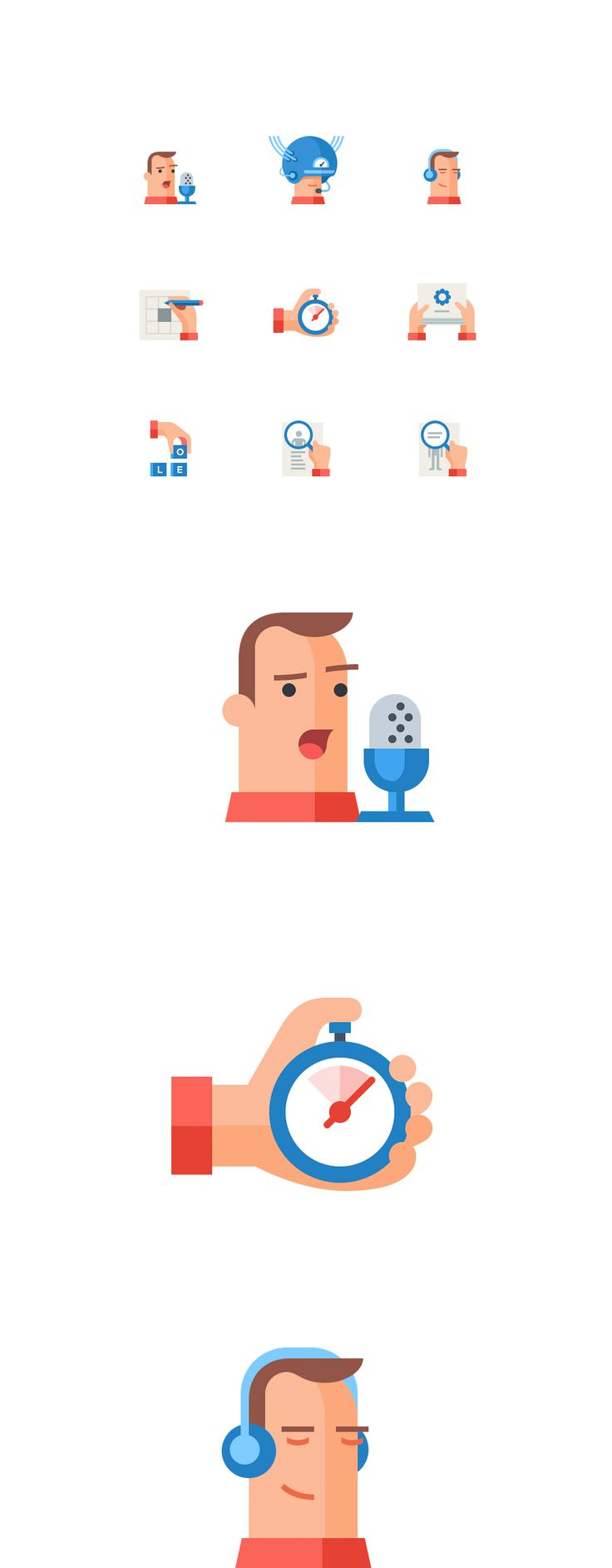 Icon set for LinguaLeo, Icons © Alexey Kuvaldin