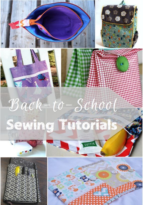 More great Back to School Sewing Tutorials to get your kids (or grown ups!) ready to start the new school year!