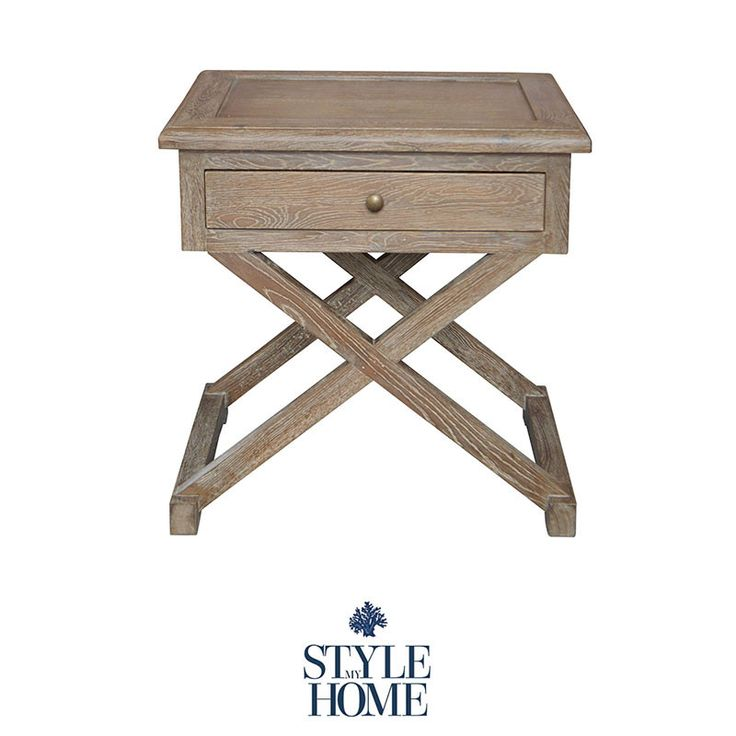 CALEB Hamptons Cross Leg Oak Bedside by Style My Home Australia Sydney Country Hamptons