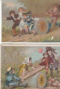 Victorian Trade Card J P Coats Six Cord Spool Thread 2 Four Children C 1880 | eBay