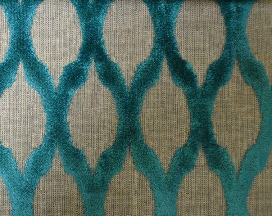 Modern Diamond Velvet Teal Fabric by SewBeItSupplies on Etsy