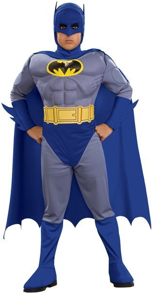 Lisensoitu Batman Deluxe asu. Hoikempikin pikku sankari muuttuu tässa asussa todelliseksi muskeli lepakoksi. #naamiaismaailma