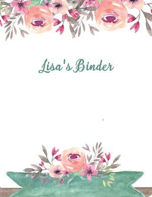 Floral watercolor border with editable text