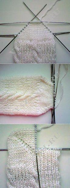 Ejecución de calcetines con talón & quot; boomerang & quot;  - Vyazanki.RU - Todo sobre tejer