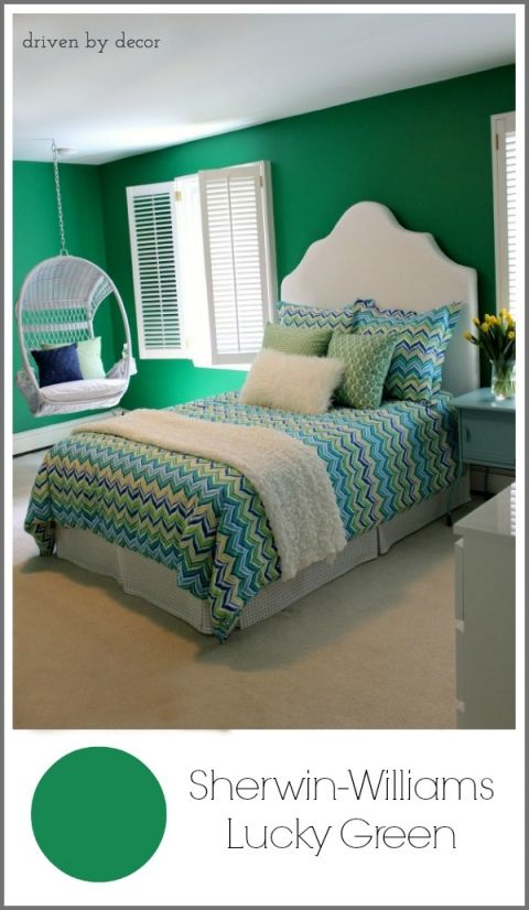 Sherwin+Williams+Lucky+Green+paint+color
