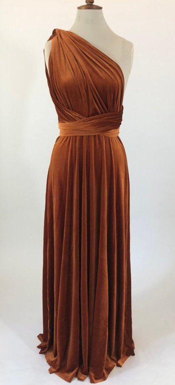 Copper Bridesmaid Dress Rust Multiway Dress Infinity Dress Etsy Copper Bridesmaid Dresses Rust Bridesmaid Dress Multi Way Dress