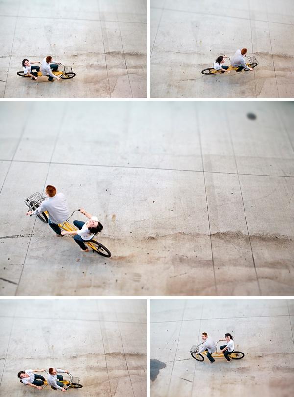 Tandem bike engagement - http://studioelevenweddings.com/