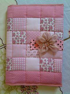 Ideias graciosas: Capa para Caderno em patchwork