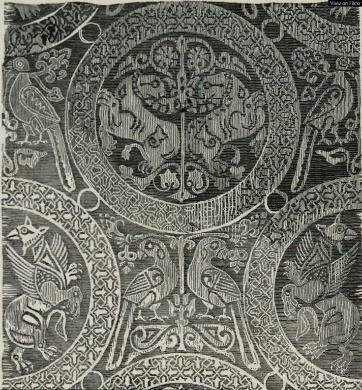 Shroud of Henry the Saint, Bamberg, Germany, 11thc silk, Cairo: