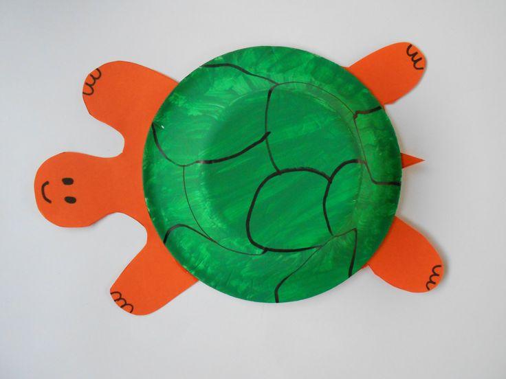 Tortuga con plato de icopor pintado.  // Make a turtle with a dish.  L.P.J.V.