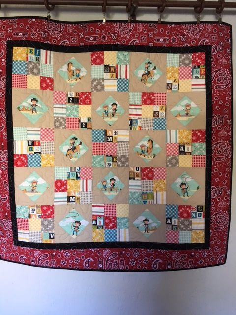 Cowboy/Girl Quilt, Quilts for Sale, Handmade Quilts, Girls Quilts, Boys Quilts, Baby Quilts, Baby Shower Quilt, Baby Nap Quilt by NonnaQuilts on Etsy