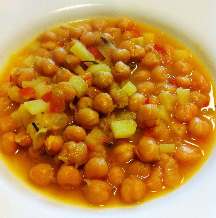 Zuppa di ceci con zenzero e peperoncino
