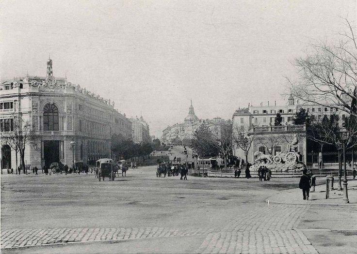 1891. Plaza de Cibeles. Alcalá Ubicacion Inicial Fuente Cibeles