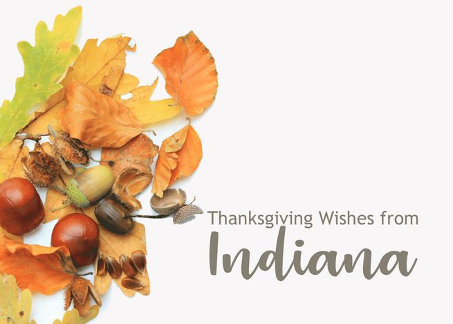 Indiana Thanksgiving Wishes Fall Foliage Card Ad Ad Wishes Thanksgiving Indiana In 2020 Thanksgiving Invitation Thanksgiving Wishes New York Thanksgiving